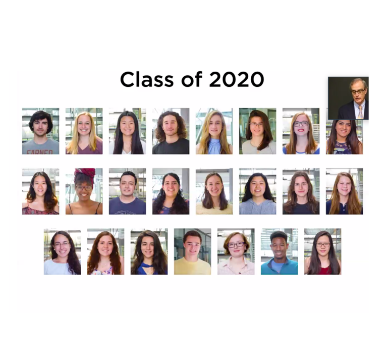 Class of '20 A.B. in Chemistry degree recipients