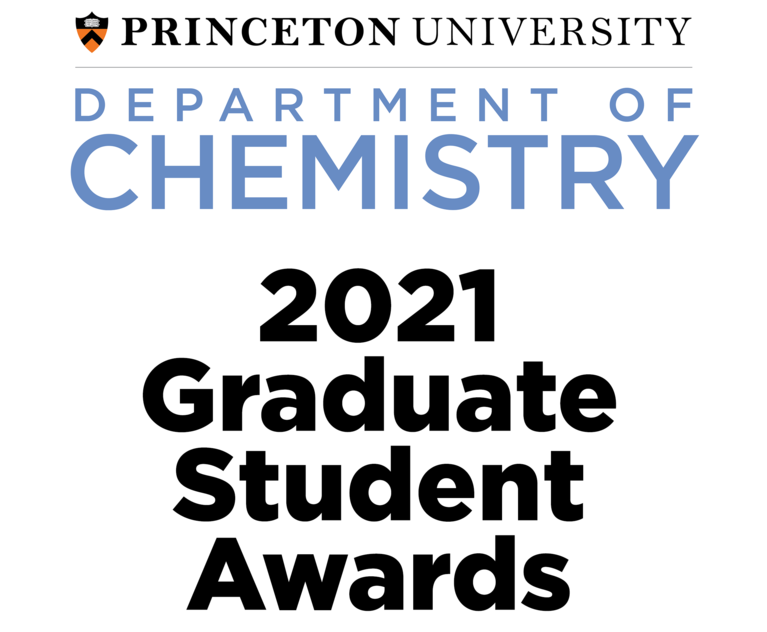 Placard announcing the 2021 Graduate Student Awards
