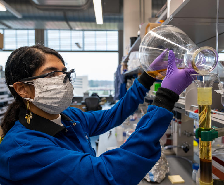Maryam Elfeki, a postdoc fellow in the Seyedsayamdost Lab, is helping to bring High Throughput Elicitor Screening to the drug discovery field.