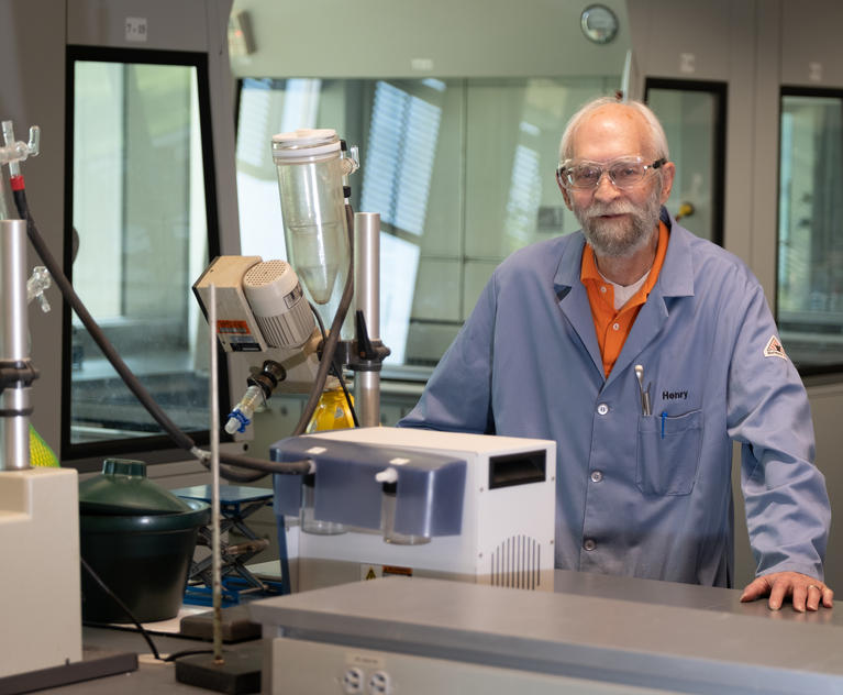 Henry Gingrich, director of the Organic Chemistry Teaching Laboratories and lecturer in chemistry.