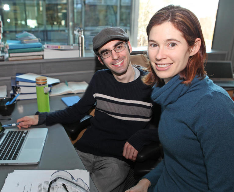Patrick Lutz, graduate student, and Abigail Doyle, professor of chemistry