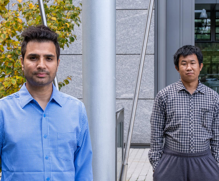 Shahnawaz Rafiq (foreground) and Bo Fu of the Scholes Group.