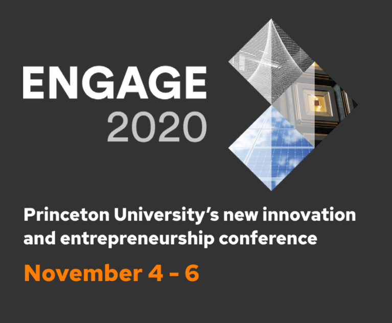 Poster announcing the University's ENGAGE2020 conference on innovation and entrepreneurism.