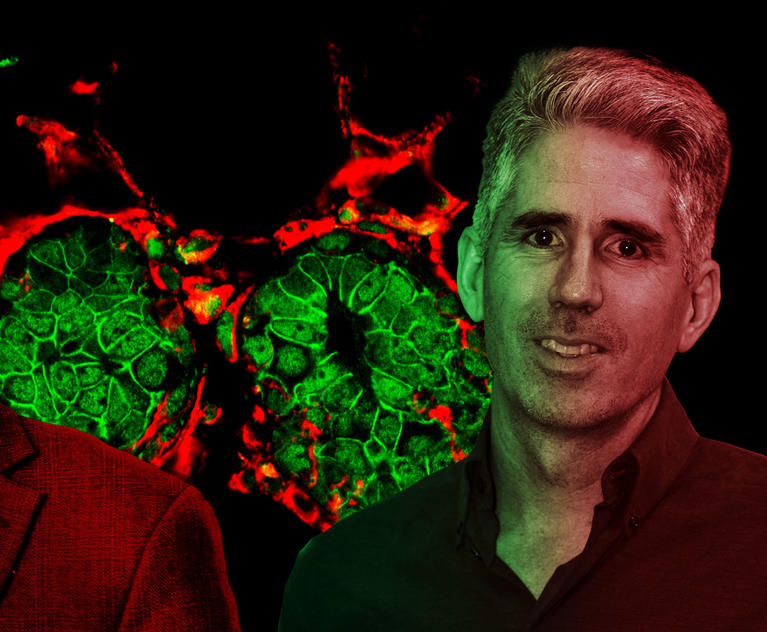 Josh Rabinowitz, founding director of the new Ludwig Princeton Branch, with a fluorescent background image created by the Kang lab.